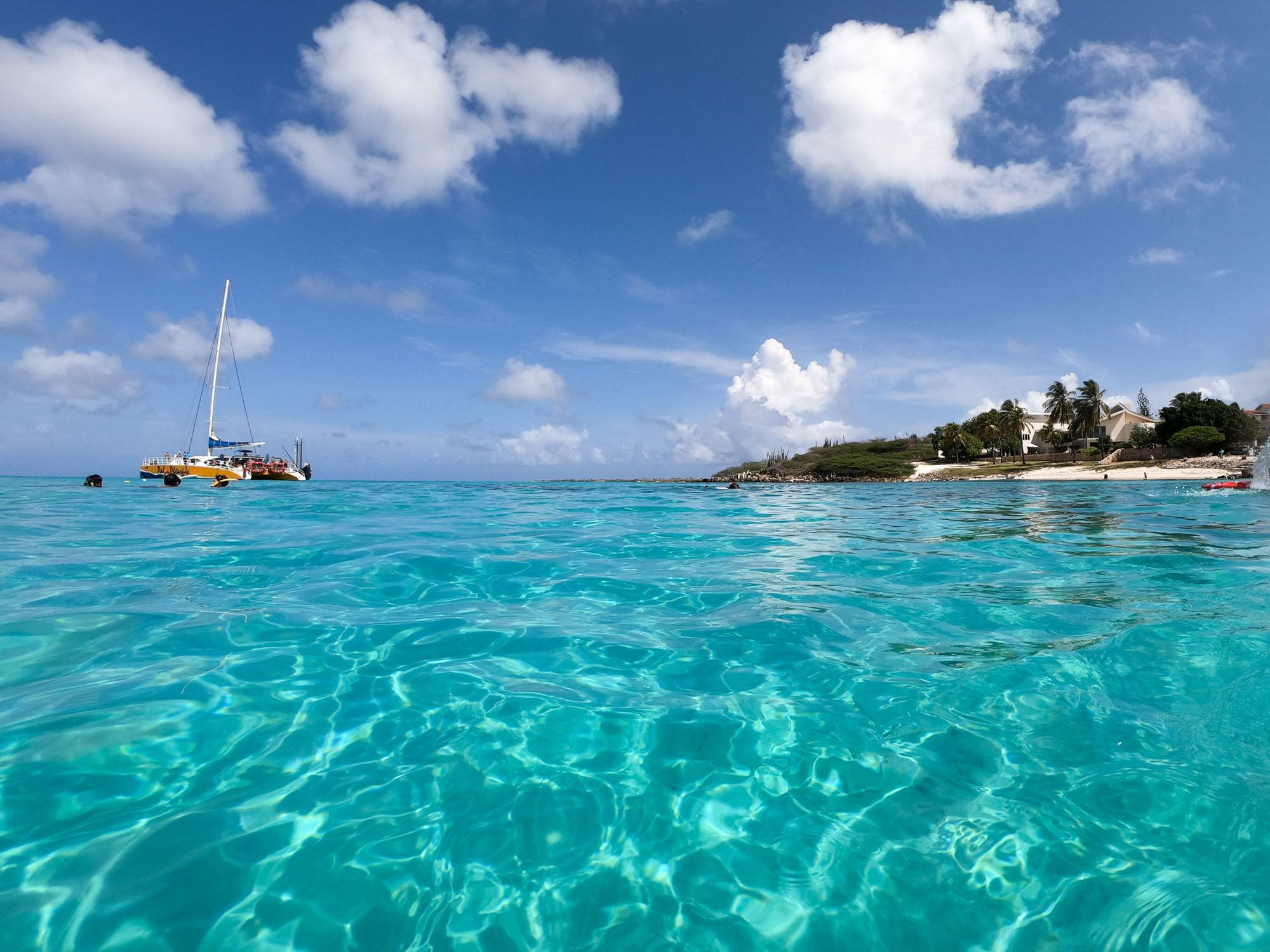 Catamaran in Aruba