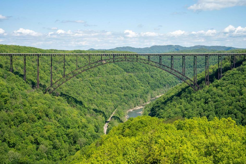 New River Gorge Bridge from the Long Point Trail
