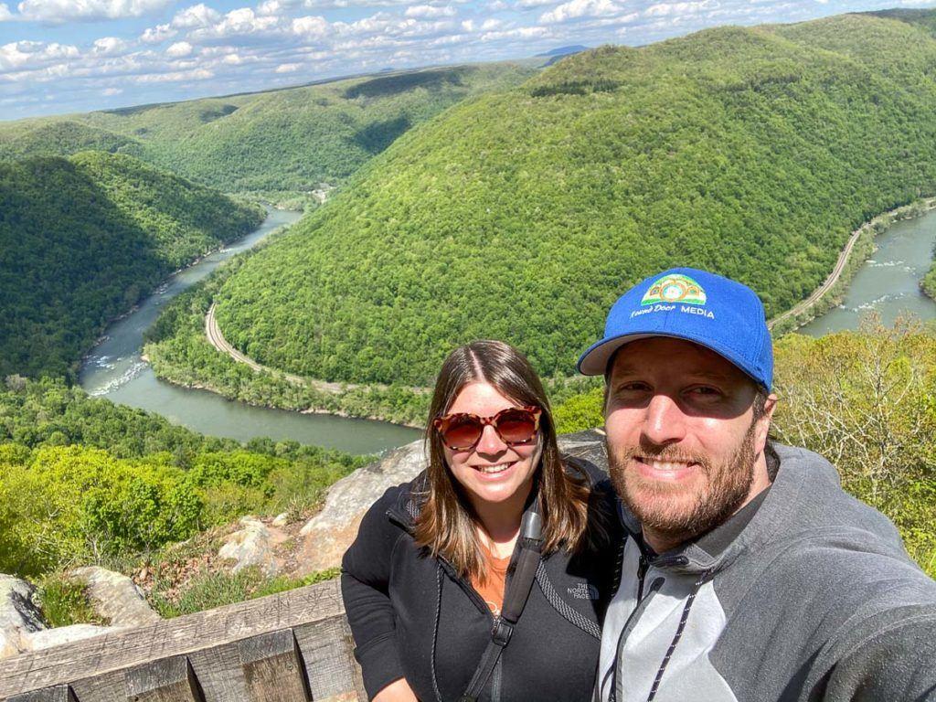 Amanda and Elliot at New River Gorge