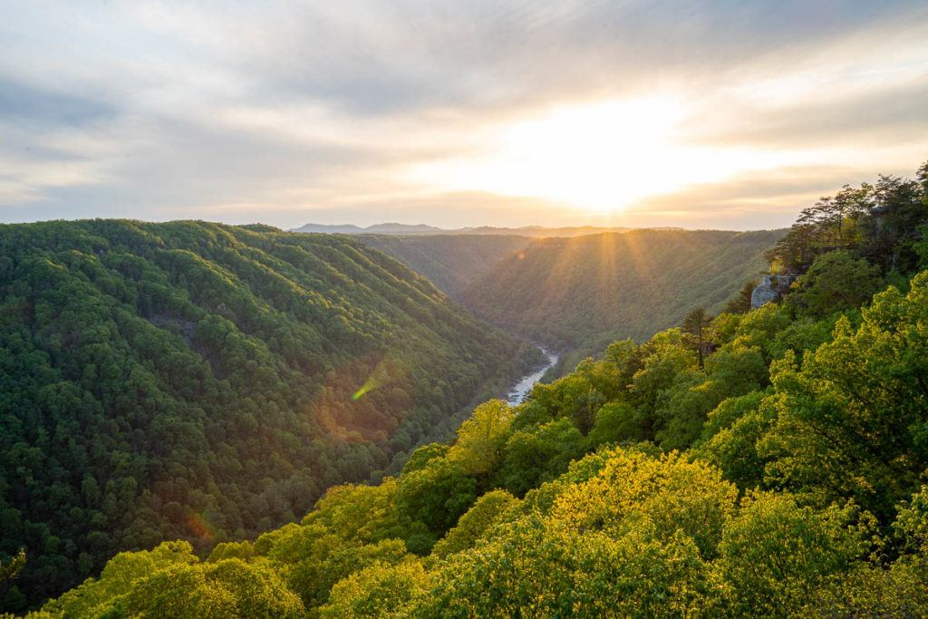 Sunset at New River Gorge