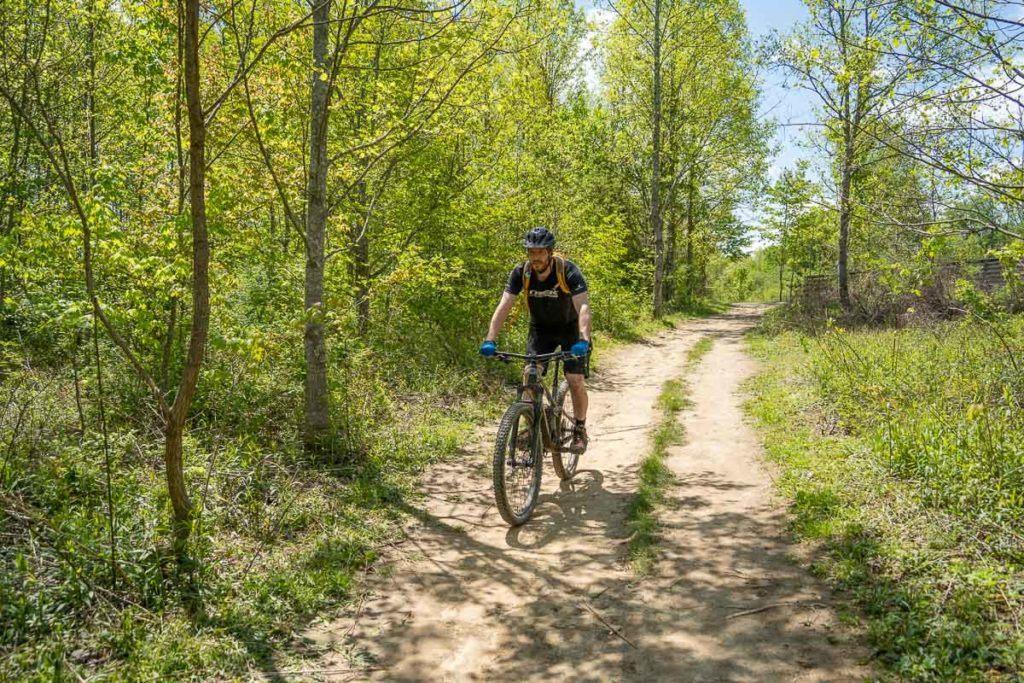 Elliot mountain biking
