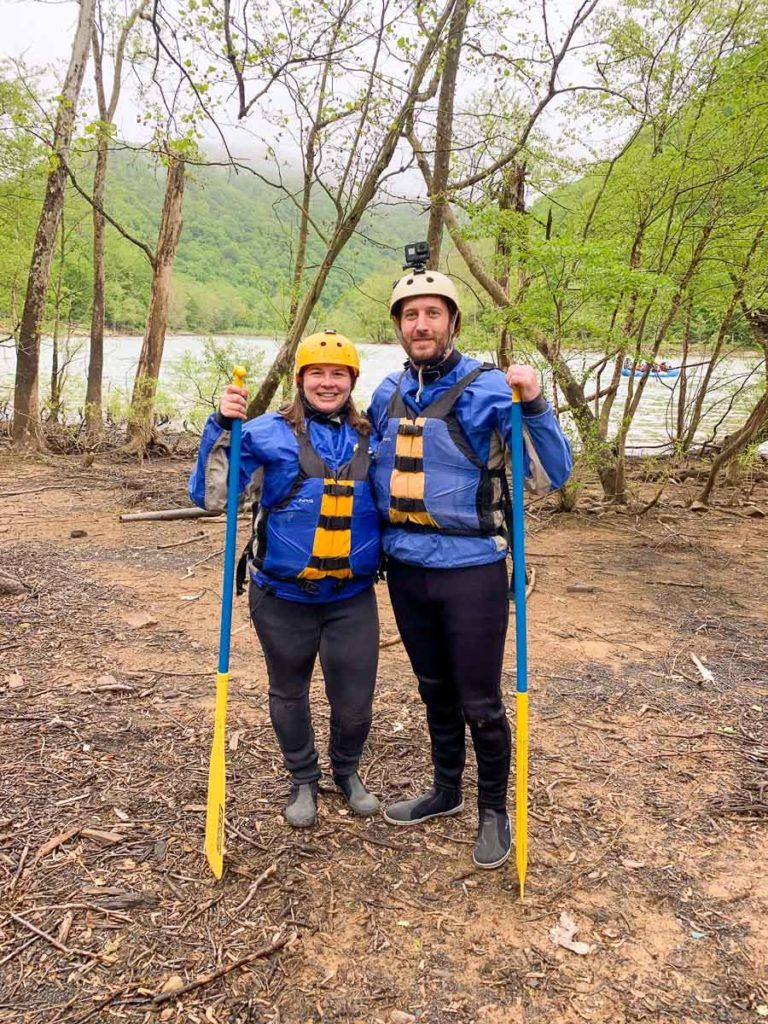 Amanda and Elliot rafting