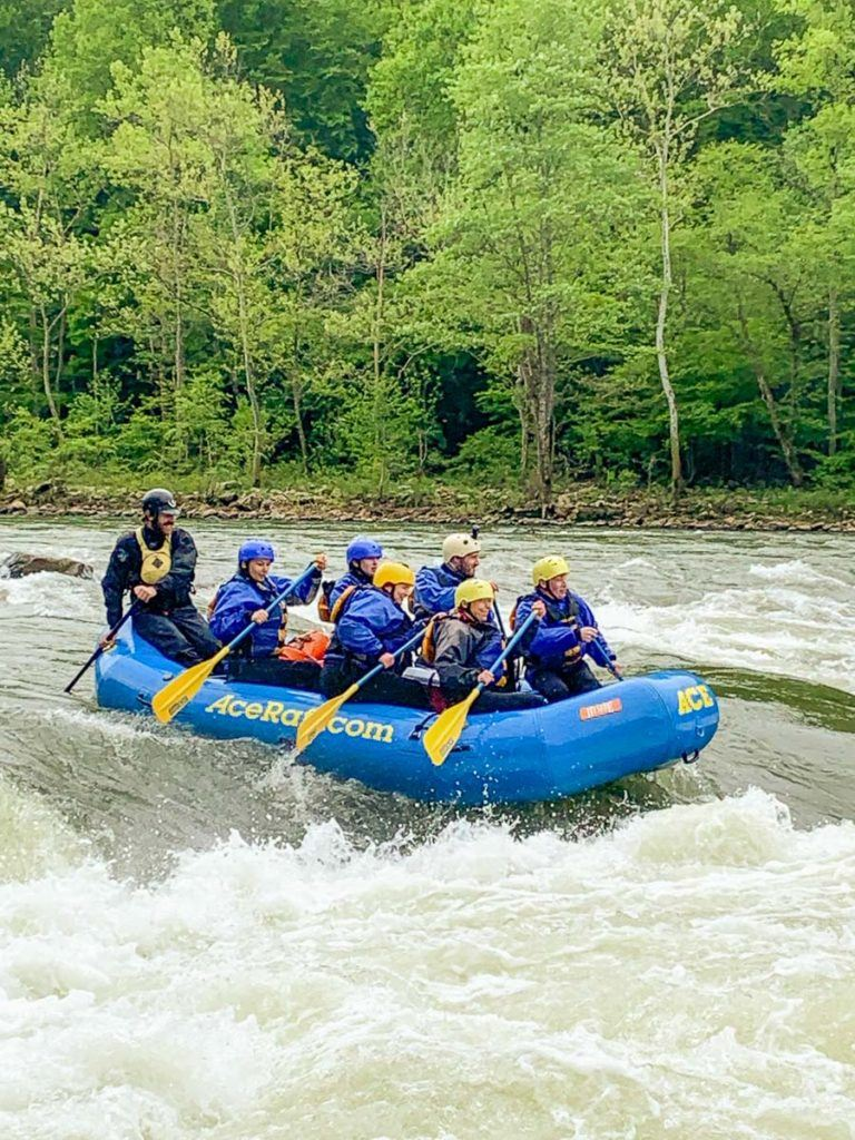 White water rafting the New River