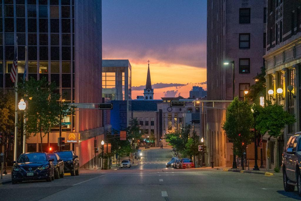 Downtown Madison sunset