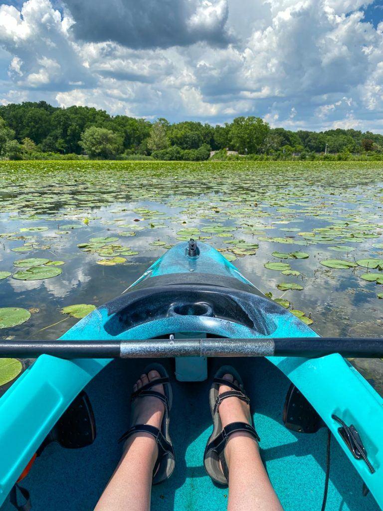 Kayaking on Lake Wingra in Madison