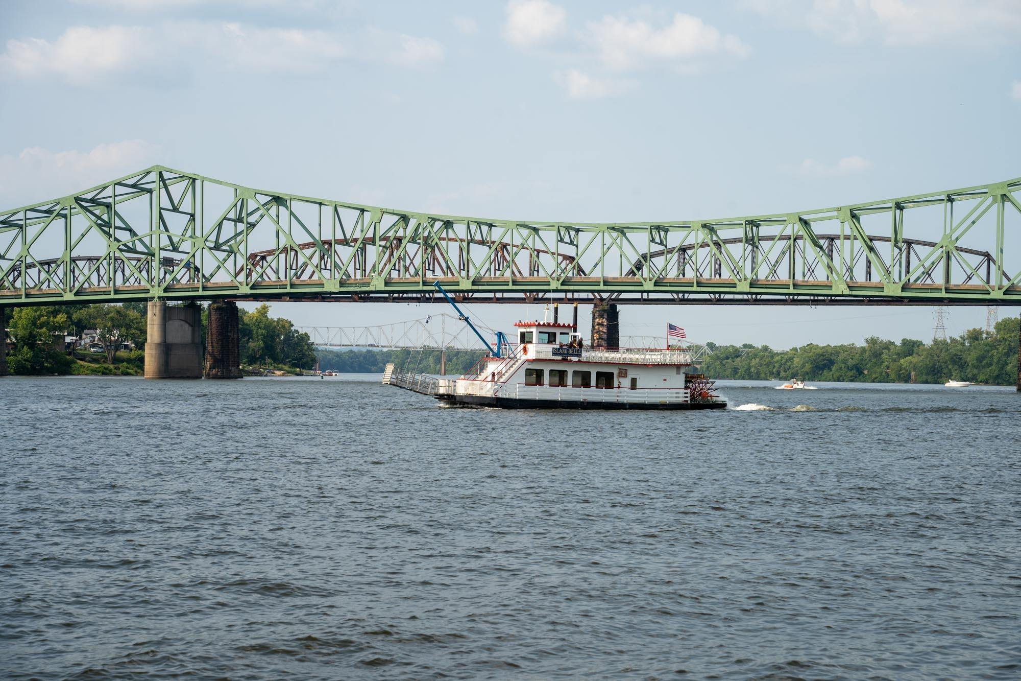 Boat on Ohio River in Parkersburg